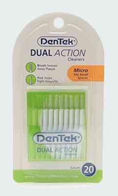 DenTek Dual Action Cleaners (Щетки Дентек чистка двойного действия)