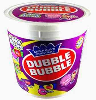 Упаковка жвачки Dubble Bubble Bubble Gum Five Flavors (Даббл Баббл бабл гам пять вкусов)