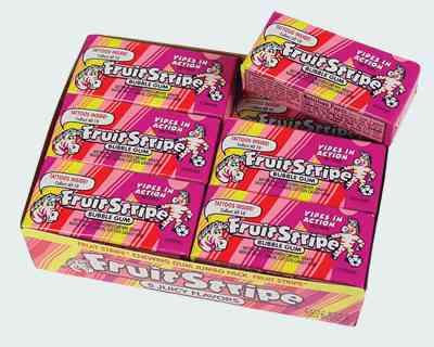 Жвачка Fruit Stripe Bubble Gum (Фруктовые полоски Бабл гам)