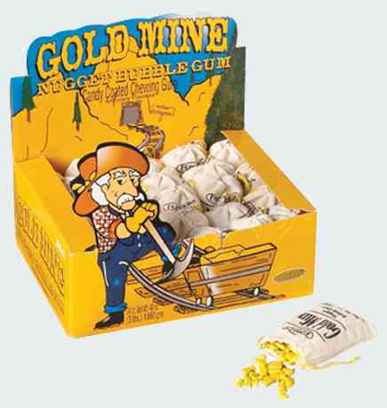 bubble gum Gold Mine Nugget Bubble Gum