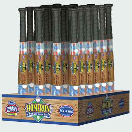 Жвачка бубль гум Homerun Baseball Bat Gumballs Bubble Gum