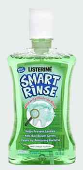 Листерин в Москве Listerine  Smart Rinse Anticavity Fluoride Rinse Mint (Листерин Смарт для детей с мятным вкусом и защитой от кариеса)
