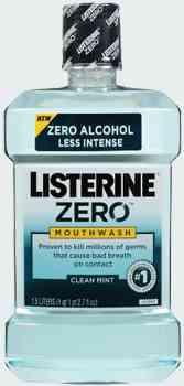 Listerine Zero Mouthwash Clean Mint (Листерин с 0 содержанием спирта Освежающая мята)