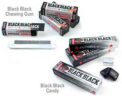 Японская Lotte Black Black Gum