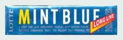 Японская Lotte Mint Blue Gum  (Лотте голубая мята)