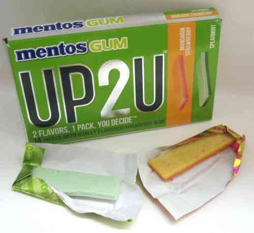 Жвачка Mentos UP2U Mandarin Strawberry Spearmint (мандарин-клубника и мята)