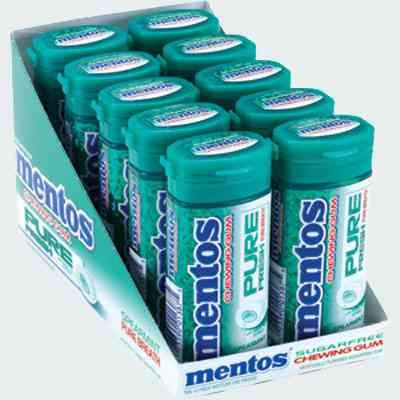 Жвачка Mentos Pure Fresh Spearmint  (чистота и свежесть мята)