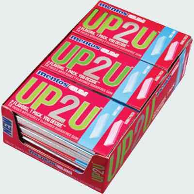 Жвачка Mentos UP2U Bubble Fresh Sweet Mint (освежающий бабл гам и сладкая мята)