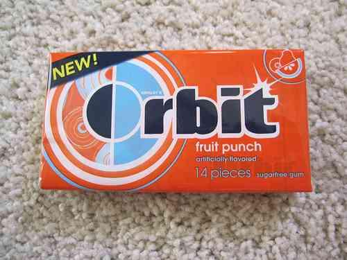 Жвачка Orbit Fruit Punch (фруктовый пунш)