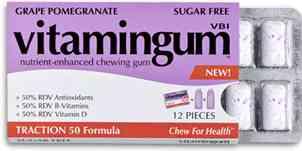Жвачка Vitamingum Traction 50 Grape pomegranate