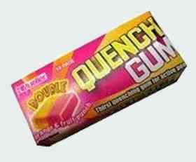 Упаковка Quench Gum Orange & Fruit Punch (Утоляющая жвачка Апельсин и Фруктовый пунш)