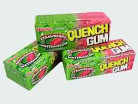Новая Quench Gum Strawberry Watermelon (Утоляющая жвачка Клубника и Арбуз)