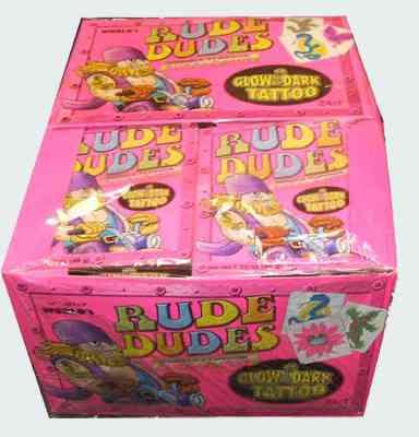 Жвачки 90 х Rude Dudes Double Flavor Bubble Gum (Руд Дуд Двойной вкус бабл гам)
