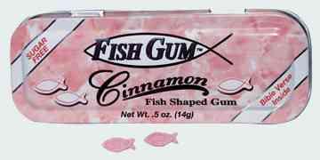 Fish Gum Cinnamon (Рыбная жвачка с корицей)