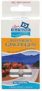 от морской болезни Sea-Band Ginger Gum (Сибенд имбирь)