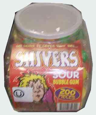 Продам Shivers Sour Bubble Gum  (Шиверс сор бабл гам)