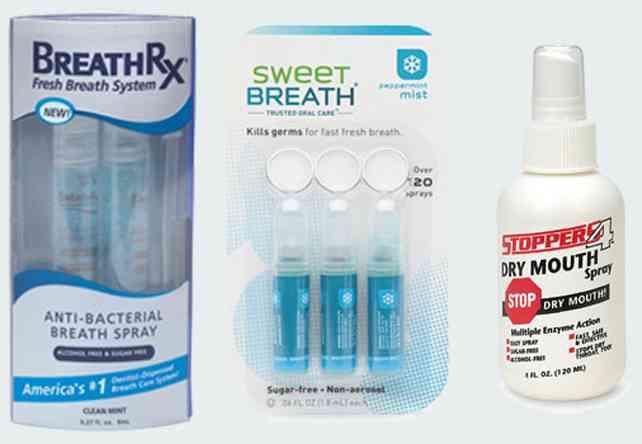 Спреи для полости рта разные