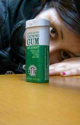 Starbucks after coffee chewing gum spearmint