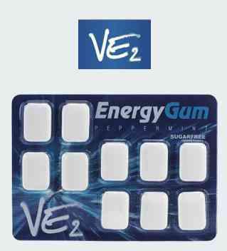 Умственная жвачка  VE2 Energy Gum (ВЕ 2 Энергетическа жвачка)