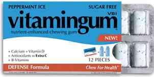 Vitamingum Defense Peppermint ice (Жвачка Витамин ледяная перечная мята)