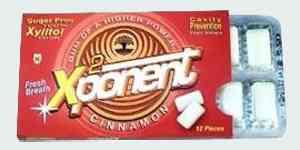 Натуральная жвачка с корицей Xponent Cinnamon Gum (Икспонент корица)